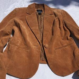 B by Bernardo Genuine Leather Blazer M Camel